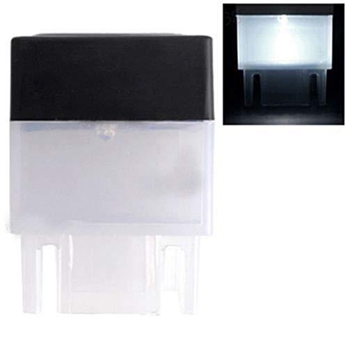 LC-lights Solarbetriebene Solarlampe für Zaunpfosten, für den Außenbereich, quadratisch, wasserfest, Weiß
