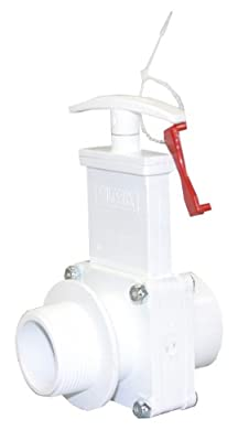 """Valterra 6108X PVC Gate Valve, White, 1-1/2"""" FPT x MPT w/Gate Keeper by Valterra Products"""