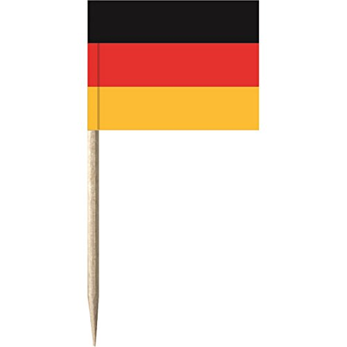 partydiscount24 50 x Flaggenpicker / Käsepicker Deutschland