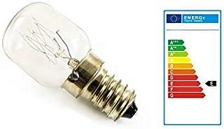 2 bombillas E14-25 W para lámpara de sal y horno hasta 300° [clase energética E]