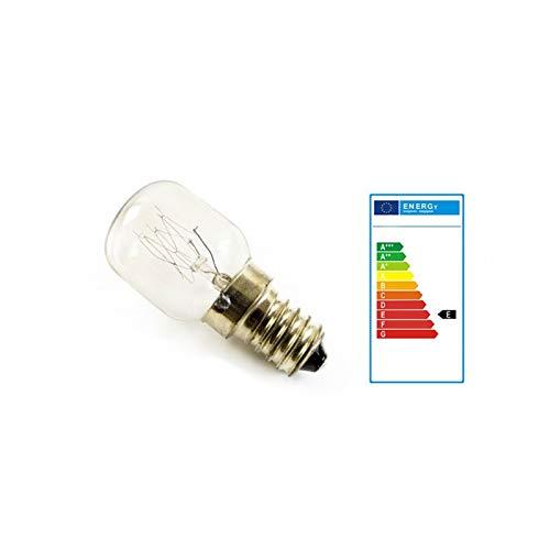 2 lampadine a incandescenza E14, 25 watt, per lampada di sale e forno fino a 300 °C, classe energetica E