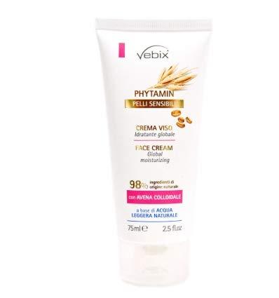 Vebix phytamin - Crema facial para pieles sensibles, hidratante con avena coloidal, 500 ml