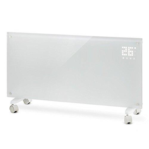KLARSTEIN Bornholm - Radiateur électrique,Chauffage à convection, 2000 W,Idéal pour les pièces jusqu'à 40 m², 5°- 45°C,Timer,Écran LCD, 2 niveaux de chauffage,Norme IP24,Mode ECO - blanc