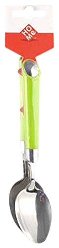 Home Goccia eetlepel met groene greep, roestvrij staal, 2 stuks
