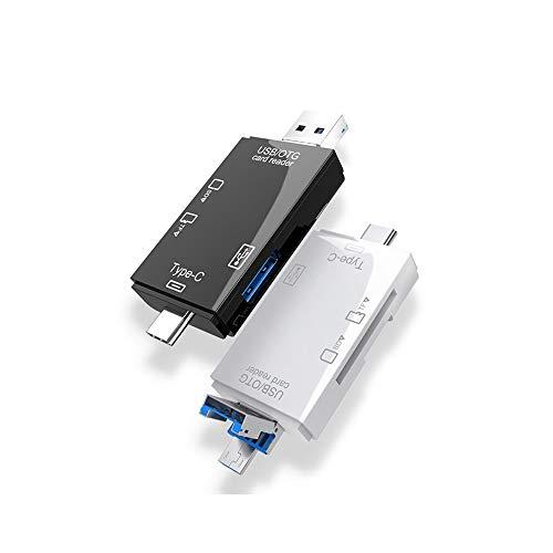 NENGLIJ (2 Unidades) Lector USB 3.0 Multi-función de la Tarjeta de Interfaz de Tres-en-uno, Material del ABS, Ideal for computadoras, teléfonos móviles, cámaras, etc
