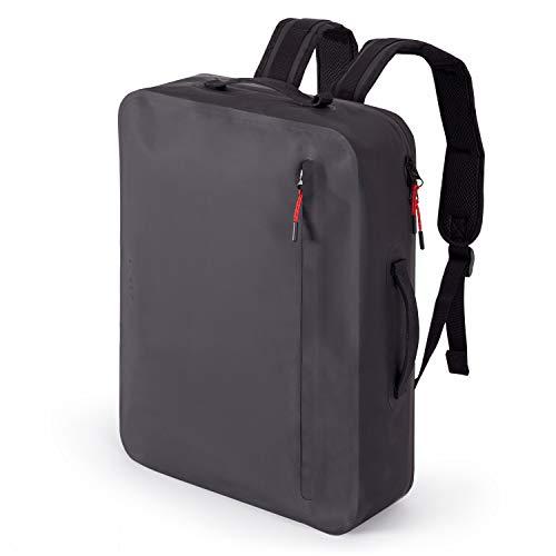 """A-LAB • Model E • Wasserdichter Fahrradrucksack • Schultertasche • Kurierrucksack aus robuster LKW Plane (17l) mit hochwertigem Laptopfach für 15"""" • Tagesrucksack in schwarz • Designed in Berlin"""