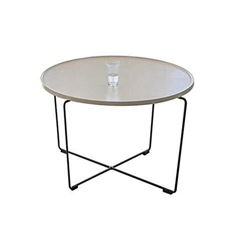 N/Z Wohngeräte Schmiedeeisen Runder Beistelltisch Ruhetisch Zusätzlicher Couchtisch Runder Tisch mit Eisenbeinen 40 cm mal, 51 cm Durchmesser Grau 15,74 mal, 20,07 Zoll