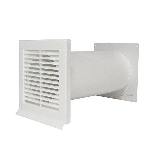 EASYTEC® Mauerkasten Ø 100 mm weiß mit Teleskoprohr und Rückstauklappe