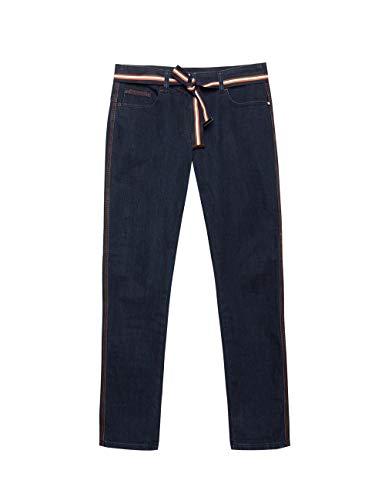 Elena Mirò : Jeans Skinny con Impunture Colorate Blu 43 (Italian Size)