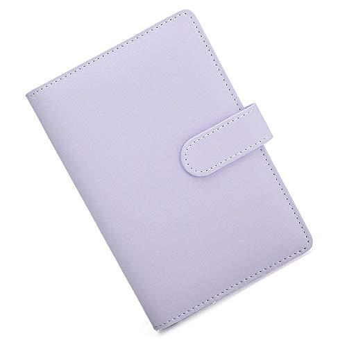 Supertool - Funda de piel suave con anillas para papel tamaño A5, 17,5 x 23 cm, color morado, para diario, cuaderno de viaje o regalo