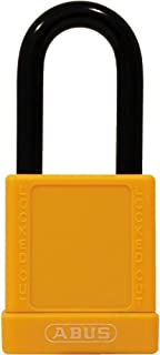 ABUS 74/40 KD Safety Lockout Non-Conductive Keyed Different Padlock with 1-1/2-Inch Shackle, Yellow