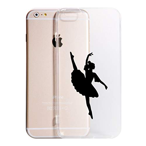 Social Crazy Cover iPhone 11 11 PRO XS - XR - XS Max -6-6 Plus - 6S - 6S Plus - 7-7 Plus - Ballerina Modello 1 Trasparente UltraSottili AntiGraffio Antiurto Case Custodia