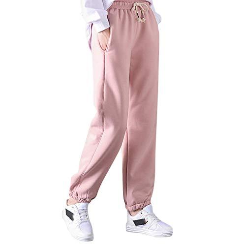 BOIYI Térmico Leggings de Cintura Alta para Mujer, Pantalones de Chándal para Mujer, Cálidos Invierno Elásticas Pantalones Largas, Forrados, de Forro Polar, para Jogging(Rosado,XL)