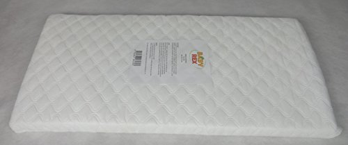 Baby Mattress Cot Crib Anti Allergy Breathable Quilted Fiber Size (89x38cm)