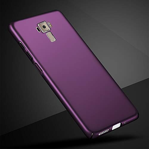 "ClickCase™ Premium Full 360° Side Covered Hard Frosted Matte Back Cover Case for Asus Zenfone 3 ZE520KL (5.2"") - Purple"