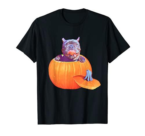 French Bulldog Halloween Pumpkin Gift Frenchie Lover Mom Dad T-Shirt