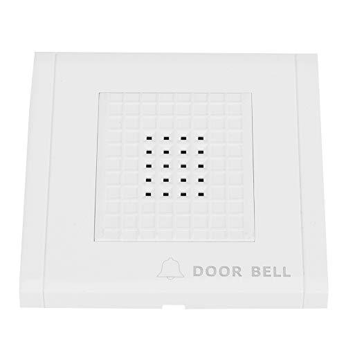 Timbre con cable del sistema, timbre de puerta con alarma Dingdong de 4 cables, musical con cable para el interior del hogar