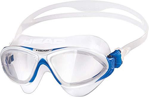 Head Horizon - Occhialini da Nuoto Unisex, Taglia Unica, Blu, Bianco, Silicone, Trasparente, Bianco