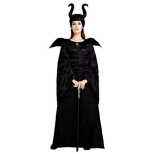 thematys® Disfraz de Bruja Negra para Mujer Cosplay, Carnaval y Halloween - Talla única 160-180cm