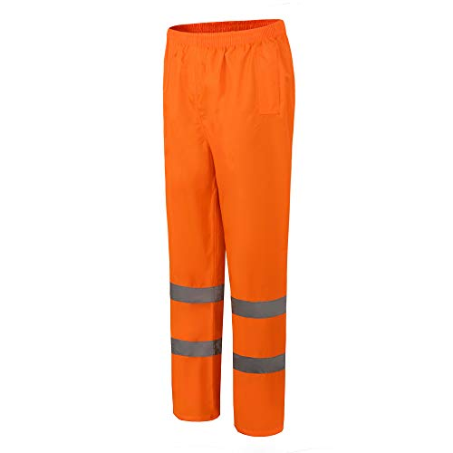 AYKRM Warning Rain Trousers Warnschutz Regen-Latzhose, warnregenhose Arbeitshose (Orange, 3XL)