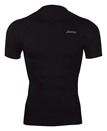 Joma Brama Classic - Camiseta térmica de manga corta para hombre, color negro, talla L-XL