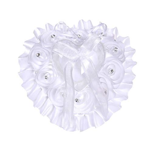 Amosfun - Cojín decorativo para anillo de boda o anillo de corazón small Imagen 2