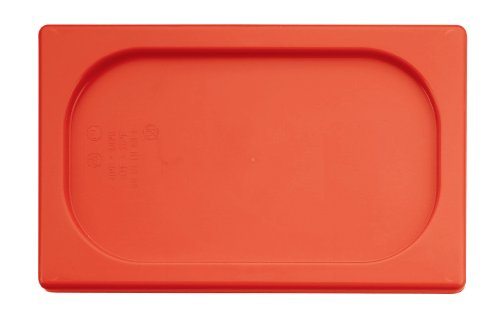 Check Out This Paderno World Cuisine 12 3/4 inches by 7 1/8 inches Red Polypropylene Hotel Food Pan ...