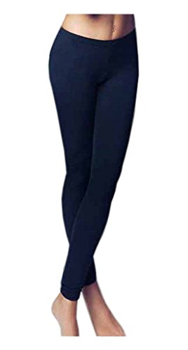 leggings Jadea 4367 donna invernale felpato, Nero, Small / Medium