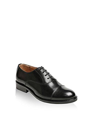 British Passport Toe Cap, Zapatos de Cordones Oxford para Mujer, Negro, 41 EU