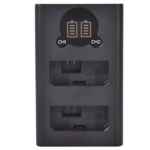 DSTE LC-E5 LC-E5E - Cargador doble USB con pantalla LCD, compatible con baterías Canon LP-E5, alimentado por cable USB tipo C a conector USB A 2.0