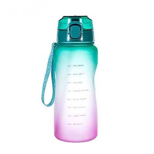 WYDMBH Botella de Agua Plegable 2L 64oz 3.8L 128oz Gallon Water Botella de Agua con Botellas de Bebida Portátil Portátil Phone Stand Gym Jaget (Color : Green 2000ml)