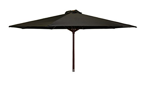 Heininger 1290 DestinationGear Classic Wood Black 9' Market Umbrella