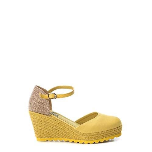 'Zapato DE Mujer XTI con CUÑA con Cierre DE Hebilla Yute' - para: Mujer Color: Amarillo Talla: 39