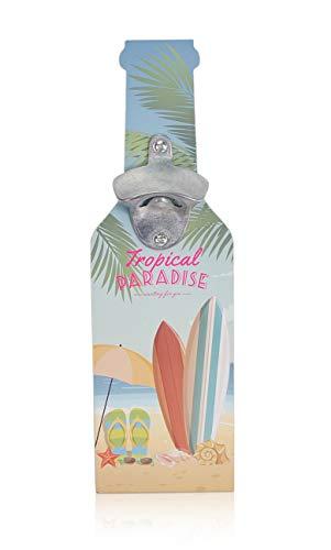 CHICCIE Wand-Flaschenöffner in Flaschenform zum Aufhängen aus Holz - Summer Dream