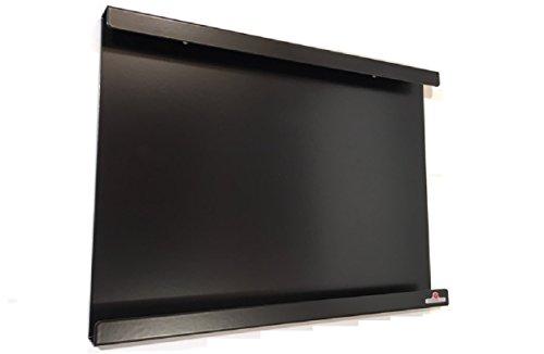 Supporto, telaio, montaggio a muro per iPad Mini, con o senza guscio protettivo sottile. Alluminio e modo gli interni in pelle. Ideale in cucina o in ufficio.