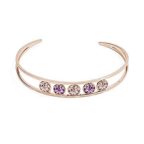 Brosway Pulsera rígida de Mujer Symphonia en Acero y Cristales Rosa BYM27