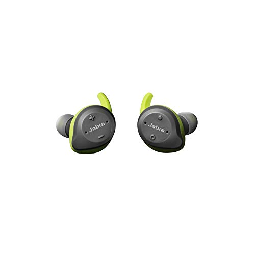 Jabra Elite Sport Cuffie Auricolari True Wireless, In-Ear, con Cardiofrequenzimetro e Sport Activity Monitor, Verde Lime/Grigio