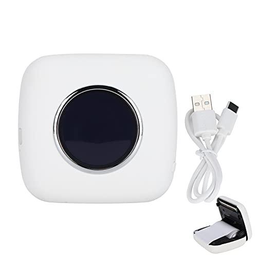 Impresora de bolsillo Mini impresora térmica inalámbrica Bluetooth Impresora fotográfica portátil para asistencia en el aprendizaje, notas de estudio, diario(blanco)