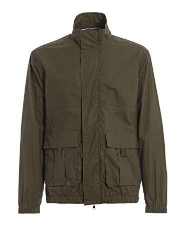 WOOLRICH Papery Popeline Track Jacket Dark Green-M