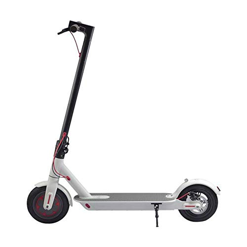 GOFEI 8.5Inch Electric Scooter, 350W Motorised Mobility Scooter Portable Folding E-Scooter with Led Light and Display Max Speed 25 Km/H,White