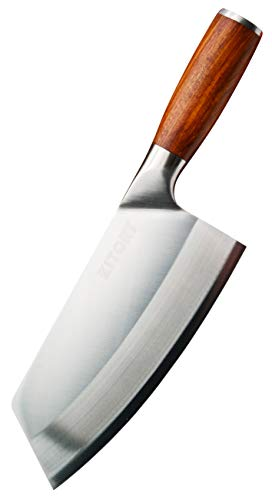 Kitory Cleaver Knife 7 Inch – High Carbon German Steel Chinese Chef Knife with Pakkawood Handle Vegetable Meat Cleaver Knife with case Antirust Kitchen Knife for Cooking