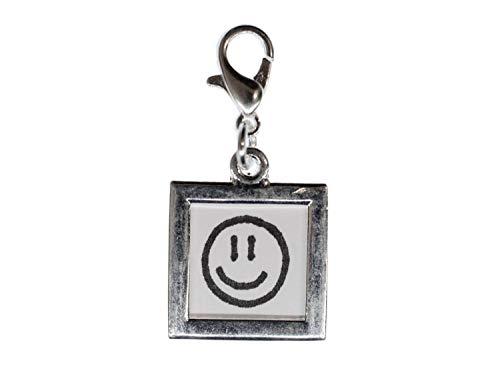Miniblings Dein Foto Charm Anhänger Bettelarmband Bild Silber DIY 18mm Quadrat
