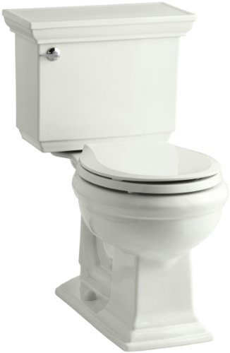 Kohler K-3933-0 Memoirs Comfort Height Two-Piece Round Front Toilet with Stately Design, White - 567212