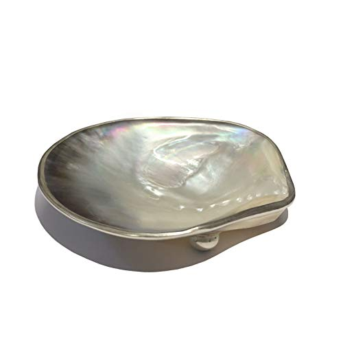 HHA Handmade Mother of Pearl Dish from Vietnam- Excellent Gift idea. Caviar, Candy, Jewelry, Watch Holder.