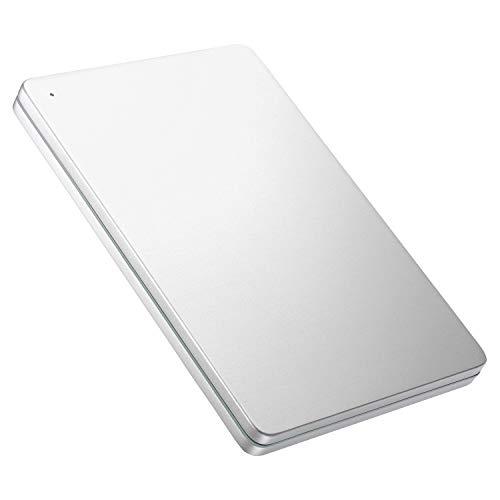 I-O DATA 外付けHDD ハードディスク 2TB ポータブル カクうす アルミボディ 超薄型 mac Time Machine対応 日本製 HDPX-UTS2S