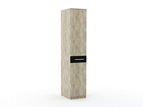 Premiere wandkast boekenkast met deur kast 40 cm breed voor slaapkamers