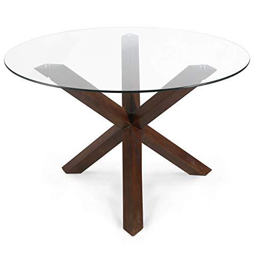 POLY & BARK Kennedy 48' Round Dining Table, Walnut