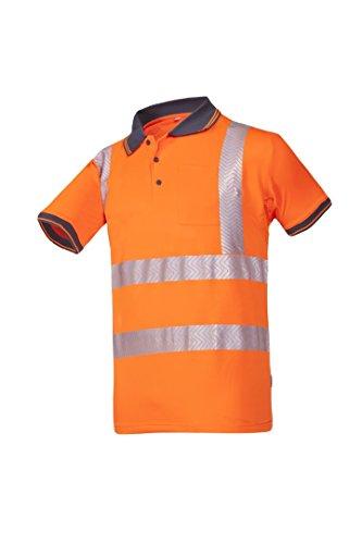 Frederik Sioen 3882a2mc1fc13X L Rotto Hi-Vis Polo-Shirt, 3X Große, orange