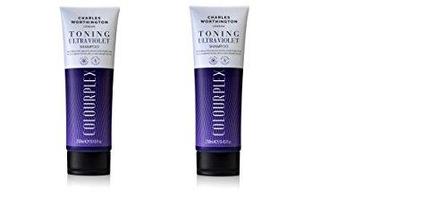 Charles Worthington Color Enhancer Violette Tönung Shampoo 250Ml - Packung mit 2