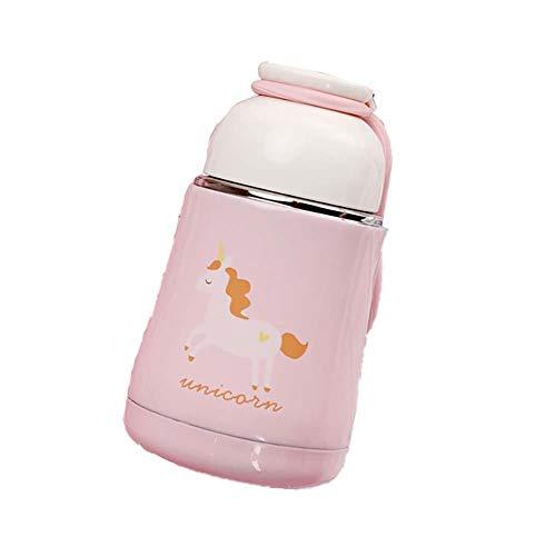 Nenka Termo de acero inoxidable con diseño de unicornio, botella de vacío portátil para el hogar, la oficina, viajes, deporte (300 ml)